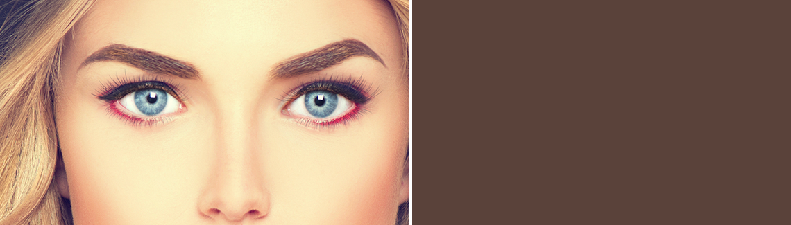 Graceful, clean, natural looking symmetrical eyebrows that are perfectly placed and colored-Permanent beauty!